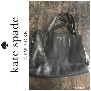 Kate Spade pebble leather tassel tote bag